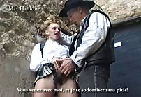 FREE PREVIEW - Schoolgirl Barbie gets Sodomized in France by Max Hardcore Act Two!