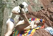 Patricia gets Buttfucked on the Beach by Max Hardcore!
