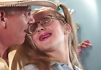 FREE PREVIEW - Adorable Amber Gives A Blowjob With Braces to Max Hardcore!