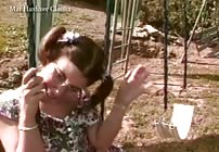 FREE CLASSIC PREVIEW - Michelle Gets Sodomized On The Swings By Max Hardcore